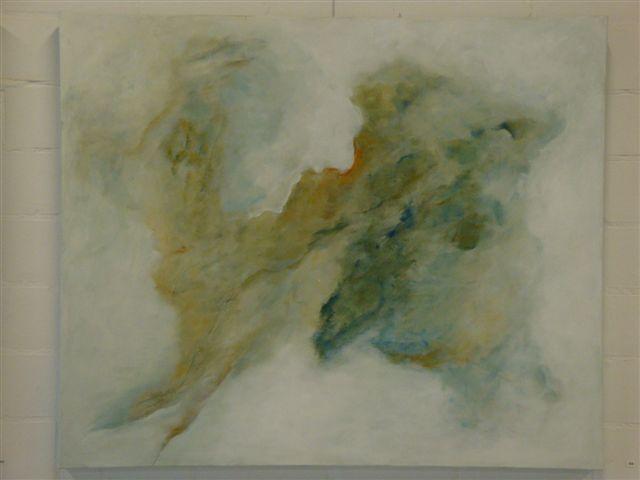 in de wolken acryl op linnen  100 x 120