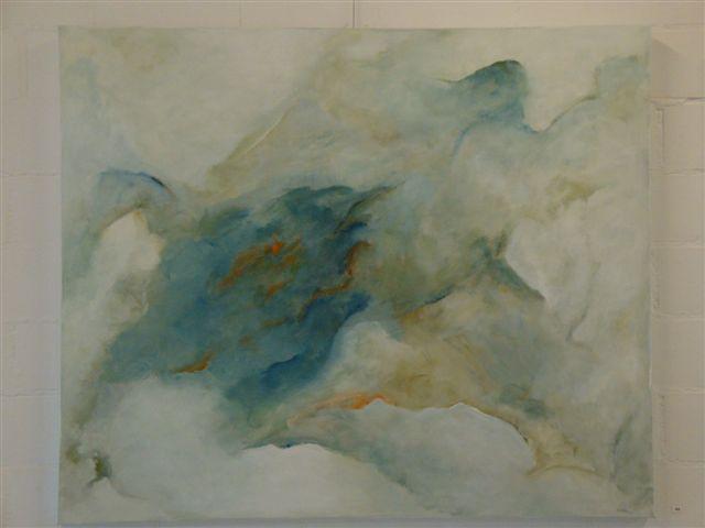 in de wolken acryl op linnen 120 x 100