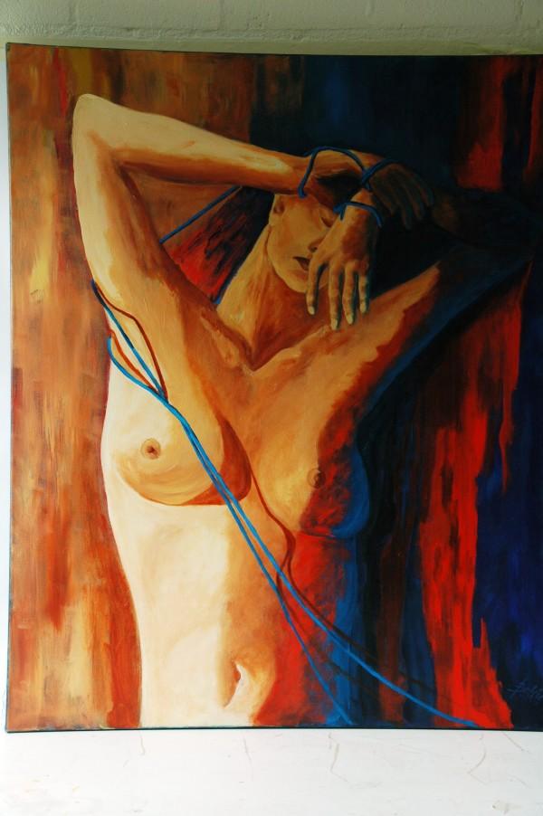 verstrikt acryl op linnen  80 x100